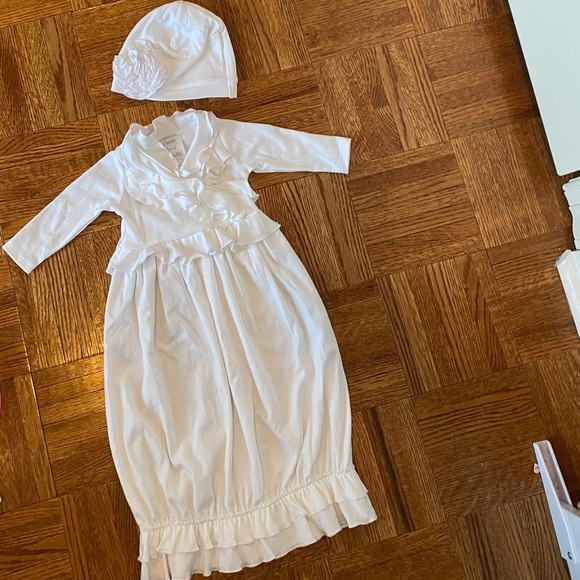 Baby girl layette with matching hat included